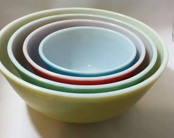 Pyrex Bowl Set Primary Nesting Bowls