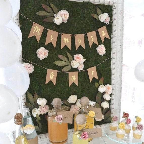 brenda mimosa bar banner bridal shower garland mimosa bar bunting bachelorette party banner wedding mimosa bar bridal shower bunting banner