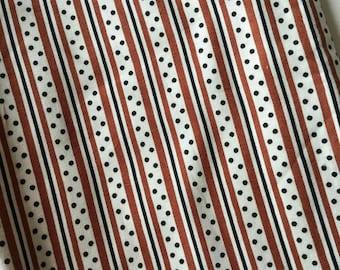 Denyse Schmidt Katie Jump Rope Brown Stripes Quilt Fabric Fat Quarter