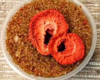 Strawberry Sugar Scrub; sugared body scrub