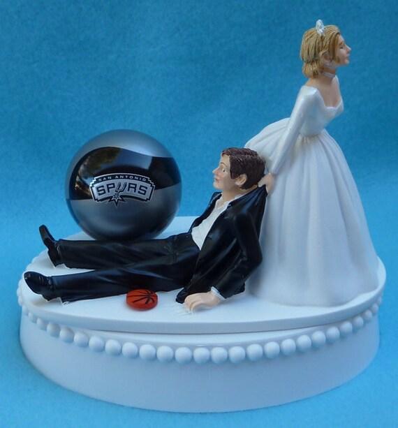 Wedding Cake Topper San Antonio Spurs SA Basketball Themed W/