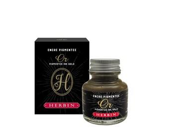 J. Herbin Gold Pigmented Calligraphy Ink - 1 oz Bottle