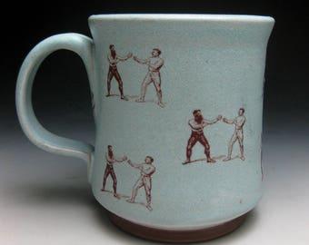 Mustache Mug- LIl' Boxers- Left Handed