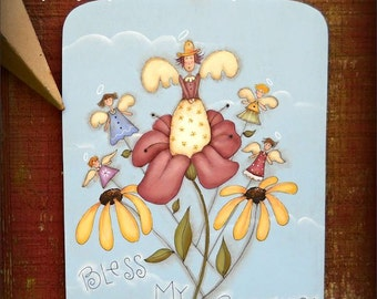 Bless my Blooms - Painted by Sharon Bond,  Painting With Friends E Pattern