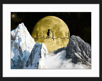 The path, Collage, Digital Collage, Artwork, Print