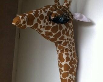 Trophy room decoration giraffe