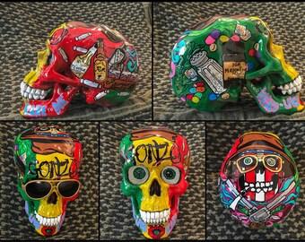 Hunter S. Thompson + Sunglasses inspired skull
