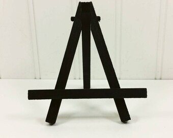 Small Black Easel, Tabletop Mini Easel, Folding Wood Easel for Miniature Art Place Cards Table Numbers