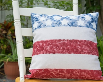 Stars and Stripes - pillow cover