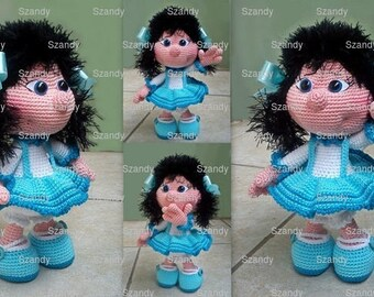 Elf Doll blue amigurumi PATTERN