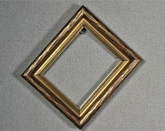 4x5 Frame Gold Vintage Mini Frame Wood with Optional Glass and Matting Complete Kit