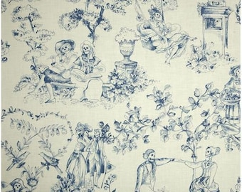 Romantics By Alexander Henry,  Out of Print Fabric by the Quarter Yard, Fat Quarter, Blue Skeletons on Cream