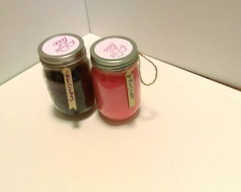 Rose scrub and coffee scrub set
