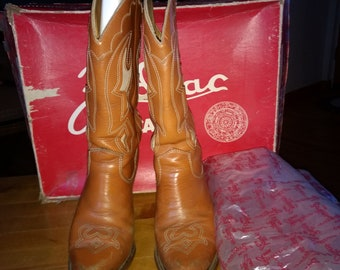 Zodiac-Cowboy/Cowgirl Western Boots Womens US 6.5-Brown-and-tan