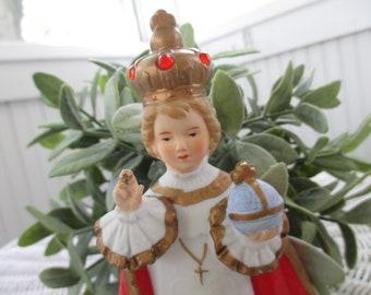 Vintage Infant of Prague * Jeweled Crown * Figurine