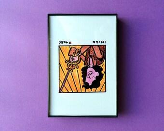 The Princess Bride, Inigo Montoya, Art, Print, 4 x 6 inches, movies, Rob Reiner, framed art, illustration, wall decor, Mandy Patinkin