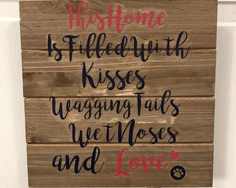 Dog Quote Wood Canvas