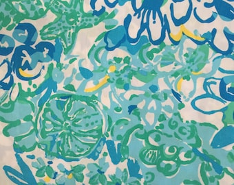 "in a pinch poplin cotton fabric square 17""x17"" ~ lilly pulitzer"
