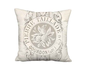 18x18 Inch READY TO SHIP - Linen Taillade Pillow - Linen Cotton French Country Pillow Cover - French Cottage Cushion Cover