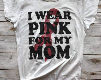 I wear PINK for my (personalized) breast cancer awareness Tshirt