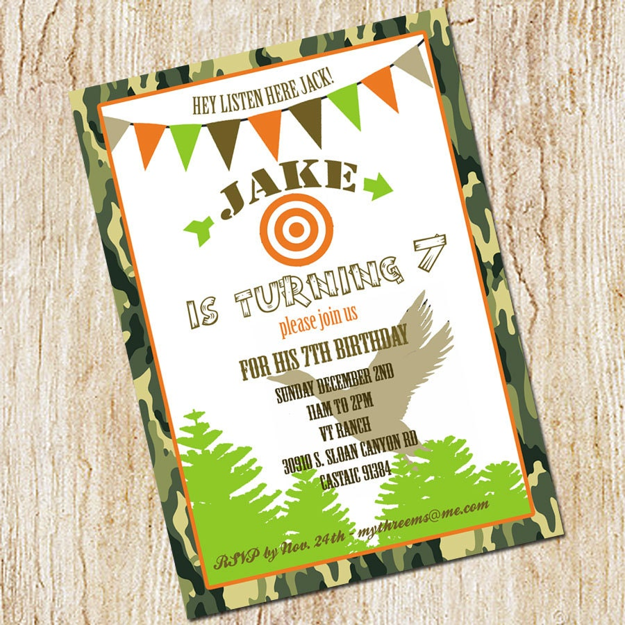 Duck dynasty invitation duck hunting party invitation zoom filmwisefo