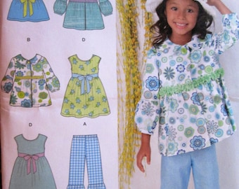 Simplicity 1476 - Child's Dress, Top, Pants and Jacket, Size A (3-8)