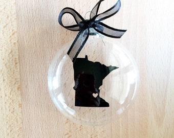 State of Minnesota Ornament, Custom, Travel, USA