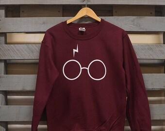 Lightning and Glasses Crewneck Sweatshirt