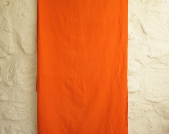 Vintage Orange Linen Fabric, Mid Century Modern Textile