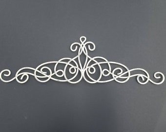 Metal Wall Art, White Home Decor, Iron Wall Art, White Metal Wall Decor, Metal  Wall Decor, Metal Scroll Decor, Small Wall Art, Heirloom