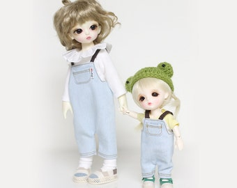 Overalls  for yosd and 16cm Tiny BJD: PukiFee Lati Yellow Tiny Delf & similar sized dolls