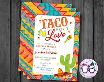 Taco Bout Love Couples Shower Invitation, Bridal Shower Invitation