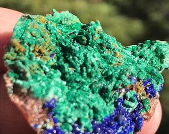 Azurite Raw Malachite Mineral Blue Green Specimen