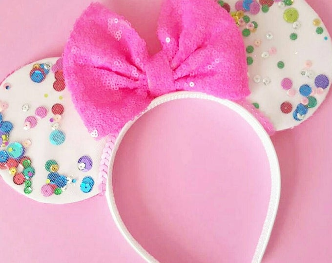 UnBirthday Birthday Mouse Ears || Mouse Ears || Mouse Ears Headban || Mouse Ears || Sparkle Mouse Ear || Confetti Mouse Ears