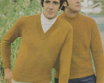 Paton's Classic Series Knitting Pattern No 105 Pullovers/Jumpers (Vintage 1970s)