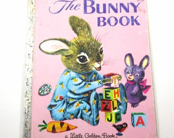 Richard Scarry The Bunny Book Vintage Children's Little Golden Book by Patsy Scarry