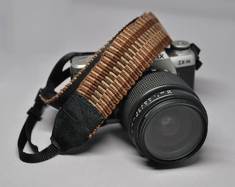 "34"" Strength-Lined Hand Woven Adjustable Camera Strap (Blue)"