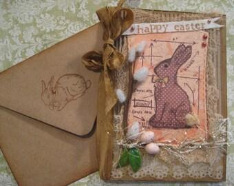 Blueprint card etsy vintage style chocolate bunny easter card blueprint bunny malvernweather Gallery