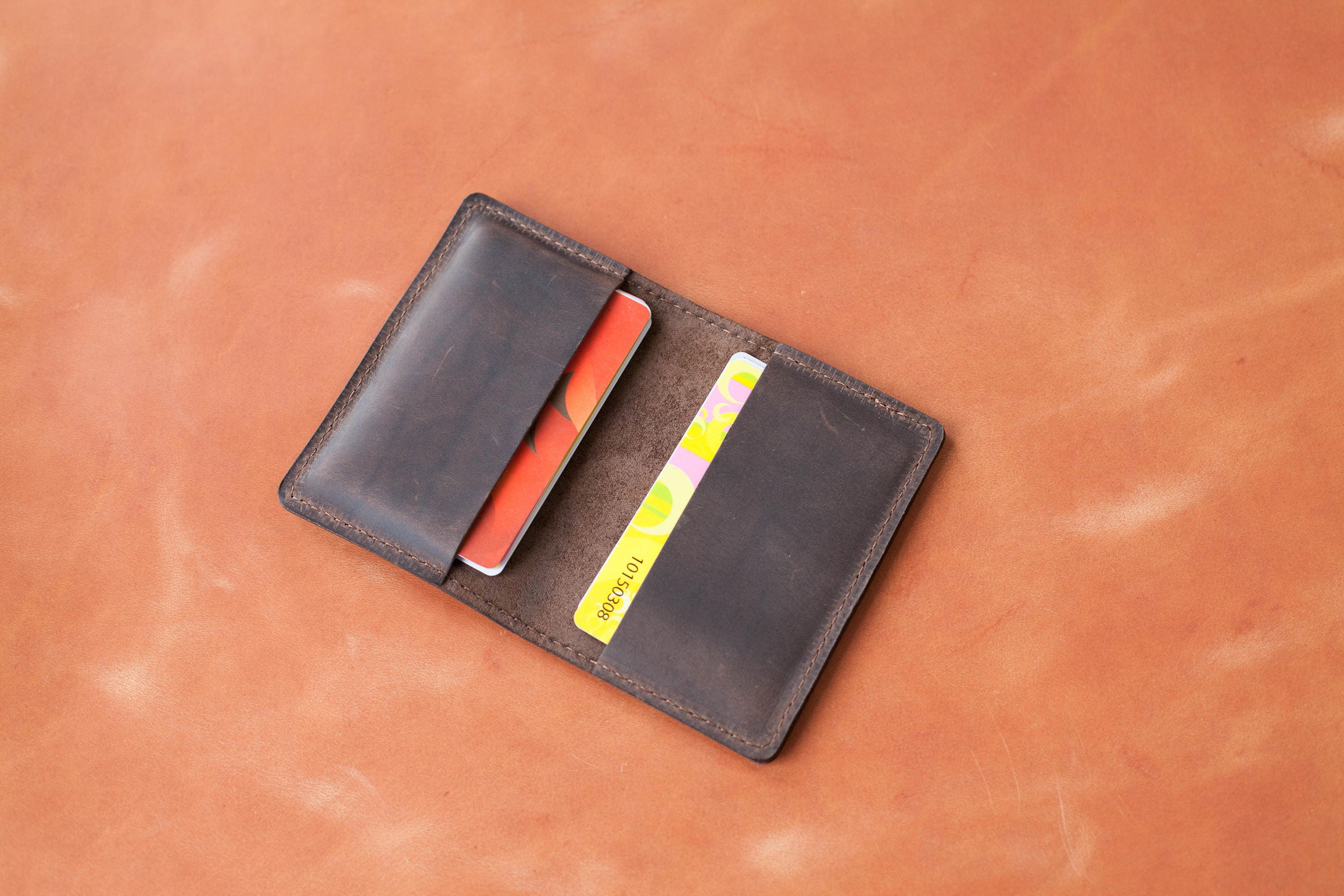 Card wallet mens Business card holder Card wallet leather