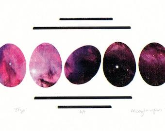 5 eggs, artist proofs