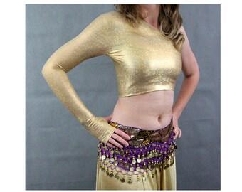 Gold Lycra belly Dance Top