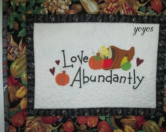 MINI Wall Art, Mini Quilt,  Home Decor, Cottage Decor,  Autumn,  Fall,  Thanksgiving,  Holiday Décor, Hostess Gift, Embroidery, Unique gift