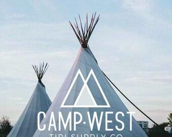 Branding Package | Logo Design | Branding Kit | Premade Logo | Custom Brand | Business Logo | Logo Package | Camp Logo | Camp West