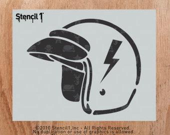 Helmet Stencil- Reusable Craft &DIY Stencils- S1_01_68 -8.5x11- By Stencil1