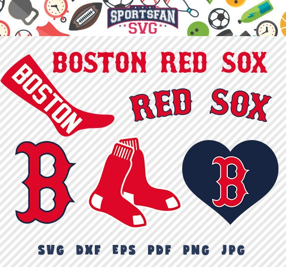 Boston Red Sox Svg Pack Baseball Team League Cut Files Collection Vector Clipart Digital Download Png Jpg Eps