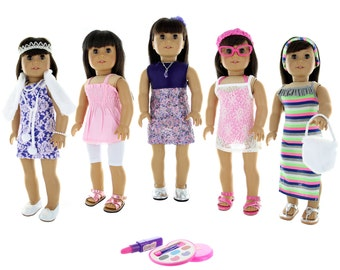 24 Piece clothing and accessories for 18 inch dolls