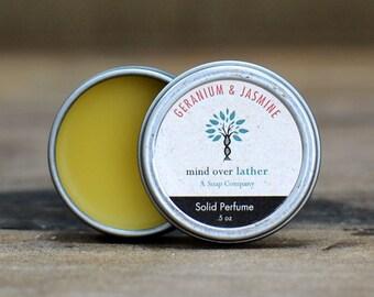 Geranium & Jasmine Solid Perfume