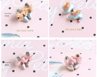 SK Couture Limited Edition Vintage Bowknot Shoes  for Blythe, Pullip, Momoko, PureNeemo XS-M, Poppy Parker