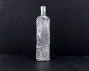 "Decorative Clear Glass ""Decanter Style"" Bottle with Cork, 12"" tall - Message in a Bottle, Infused Liquor and more"