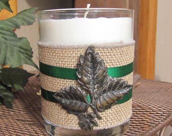 Embellished Container Soy Candle, Decorative Candle